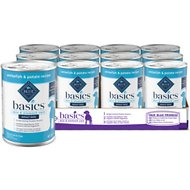 Blue Buffalo Basics Limited Ingredient Diet Grain-Free Whitefish Entrée Adult Canned Dog Food, 12.5-oz can, case of 12