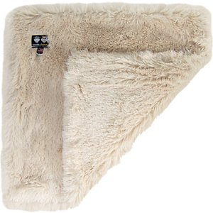 Bessie + Barnie Blondie Ultra Plush Faux Fur Reversible Dog & Cat Blanket, Beige, Large; The Bessie And Barnie Blondie Ultra Plush Faux Fur Pet Super Soft Reversible Dog & Cat Blanket is so soft you may want to steal it for yourself. This luxurious blanket features a reversible design that includes two sides of incredibly cozy faux-fur material made in a classic beige color that won't fade over time. Keep this accessory in a kennel, over a bed or on top of a couch to protect the surfaces from excess hair and shedding! Whenever the blanket needs to be cleaned simply throw it in the wash, but don't let your furry friend see because he will paw-sitively miss it!