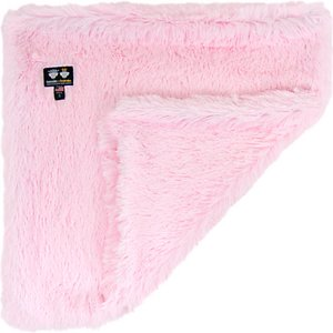 Bessie + Barnie Luxurious Dog Blanket, Pink, XX-Large; Show your dog how paw-some life can be with the Bessie And Barnie Luxurious Dog Blanket. Made from two special types of plush fabric similar to fleece, this reversible blanket will wrap your dog in cozy opulence year-round. It's also durable enough to be 100% machine washable and the colors won't fade over time. Great for dogs who love to nap around the house or are in need of a little extra comfort while traveling, the Bessie And Barnie Luxurious Dog Blanket is the paw-fect gift for your best friend.