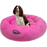 Bessie + Barnie Ultra Plush Deluxe Comfort Snuggle Bolster Cat & Dog Bed