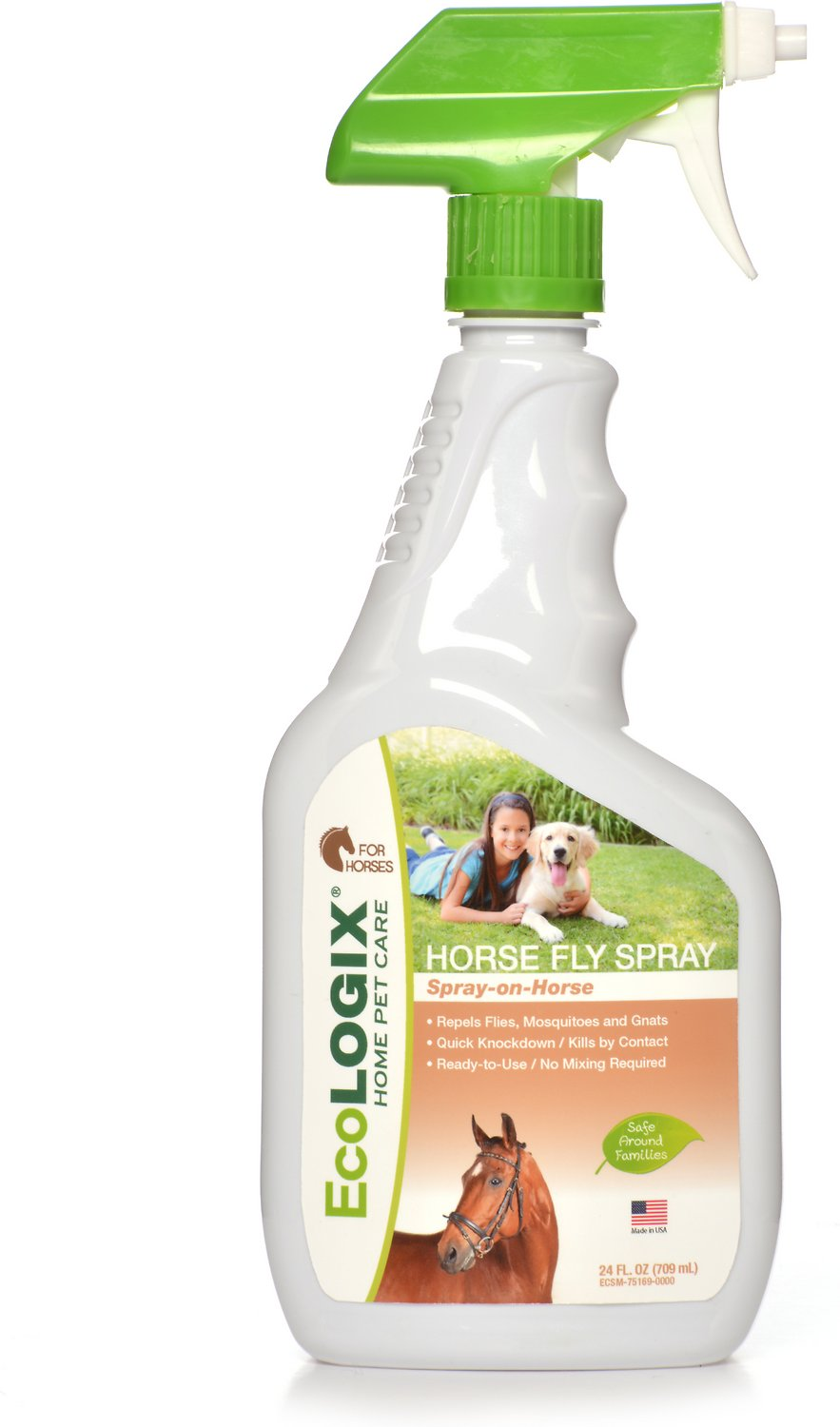 Ecosmart Fly Repellent Horse Spray 24 Oz Bottle Chewy Com