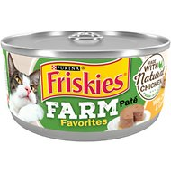 Friskies Farm Favorites Chicken & Carrots Pate Wet Cat Food, 5.5-oz can, case of 24