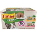 Friskies Farm Favorites Chicken & Carrots & Salmon & Spinach Pate Wet Cat Food Variety Pack, 5.5-oz can, case of 24