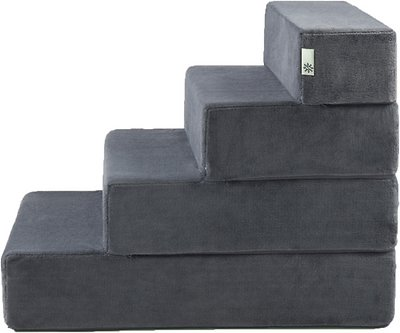 Zinus Easy Pet Stairs Grey Large Chewy Com