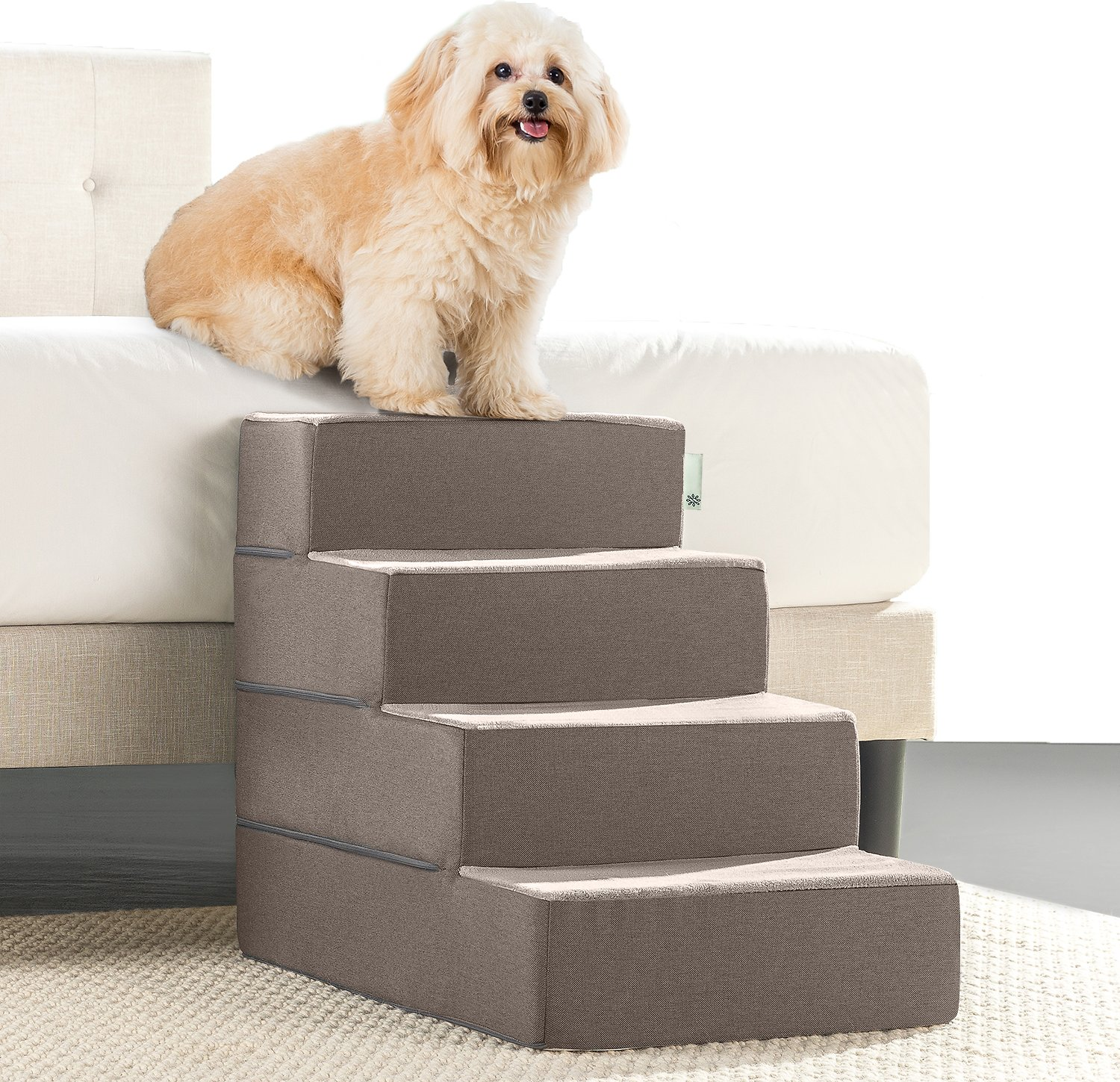 Zinus Easy Pet Stairs Brown Large Chewy Com