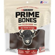 Purina Prime Bones Filled Chew with Pasture-Fed Bison Medium Dog Treats, 6 count