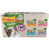 Friskies Farm Favorites Variety Pack Canned Cat Food, 5.5-oz can, case of 40