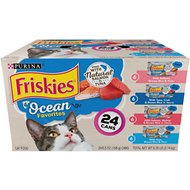 Friskies Ocean Favorites Variety Pack Salmon & Tuna Natural Wet Cat Food, 5.5-oz can, case of 24