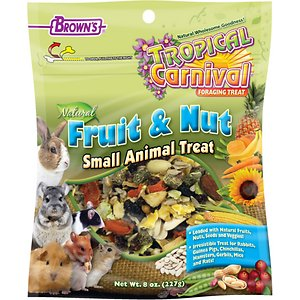 Brown's Tropical Carnival Natural Fruit & Nut Small Animal Treat, 8-oz bag