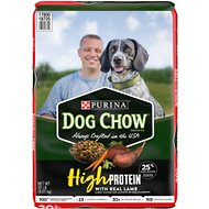 Dog Chow High Protein Recipe With Real Lamb & Beef Flavor Dry Dog Food, 20-lb bag