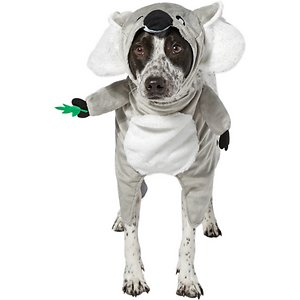 Frisco Front Walking Koala Dog & Cat Costume, XX-Large; This is one koala-ty costume you won't want to miss this Halloween. This costume's super cute frontwalking design turns your pet into a koala bear. Its two-piece design includes a frontwalking body piece and a separate, comfortable headpiece. It's easy to put on with hook-and-loop fasteners, which make for a great fit no matter your pet's size, and the embroidered face details add a realistic touch to your companion's cute look. This is a great costume for a Halloween party or a trick or treating trip out and about in the neighborhood. Get in the Halloween spirit with Frisco.