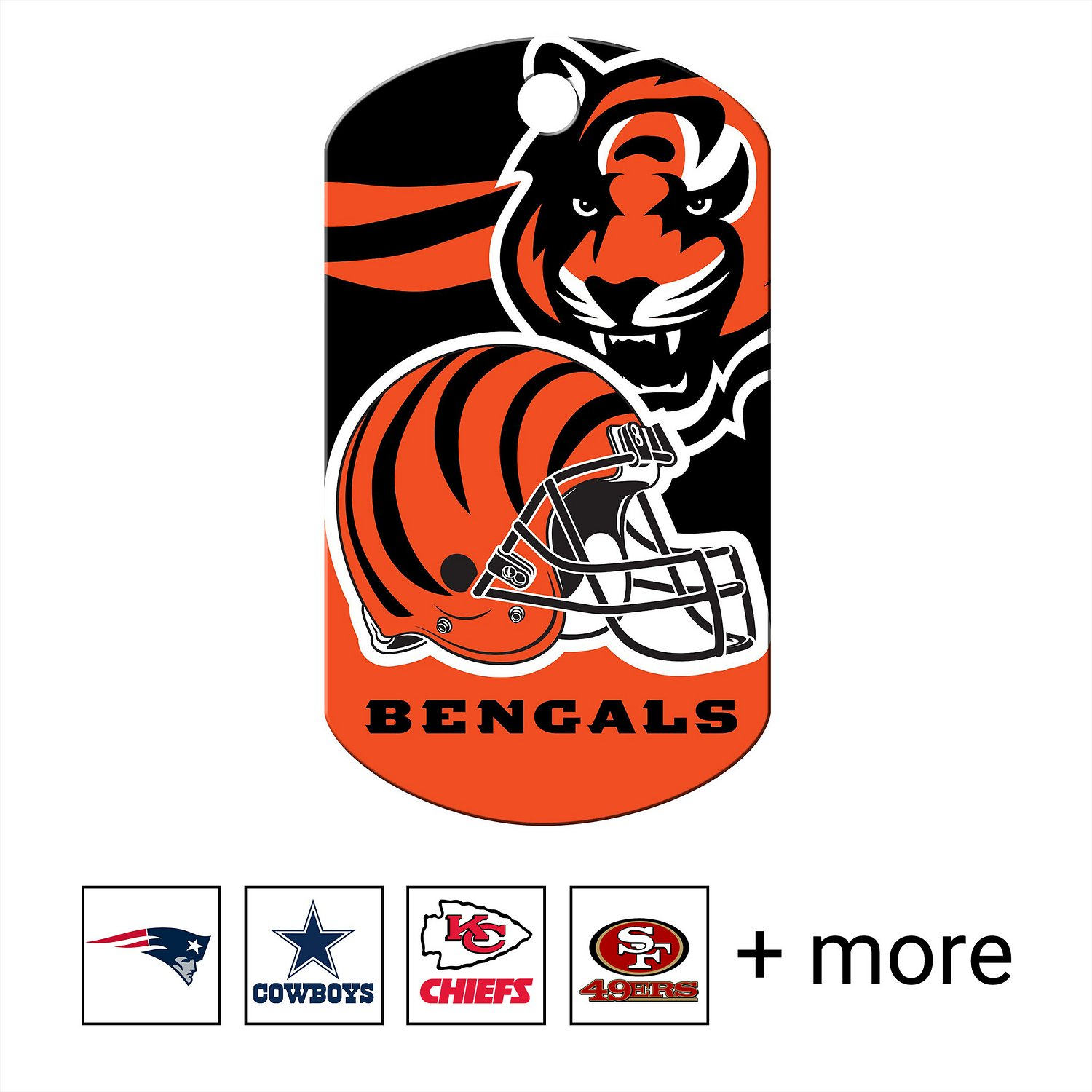 Cincinnati Bengals Pet Id Tag for Dogs /& Cats Personalized w// Name /& Number