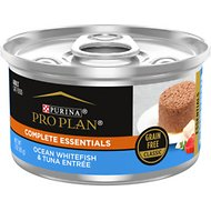 Purina Pro Plan Ocean Whitefish & Tuna Classic Entree Grain-Free Canned Cat Food, 3-oz can, case of 24