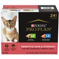 Purina Pro Plan Focus Sensitive Skin & Stomach Duck & Arctic Char Variety Pack Canned Cat Food, 3-oz can, case of 24