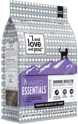 4. I and Love and You Naked Essentials Indoor Health Chicken & Turkey Recipe Dry Cat Food
