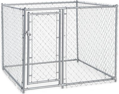 Lucky Dog Chain Link Dog Kennel , 4 x 5 x 5 ft
