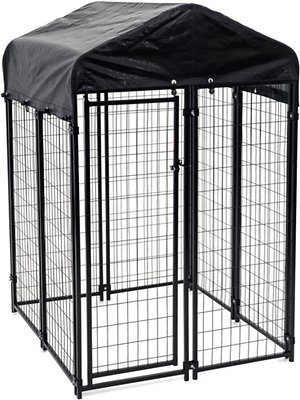 Lucky Dog Uptown Welded Wire Dog Kennel, Cover & Frame