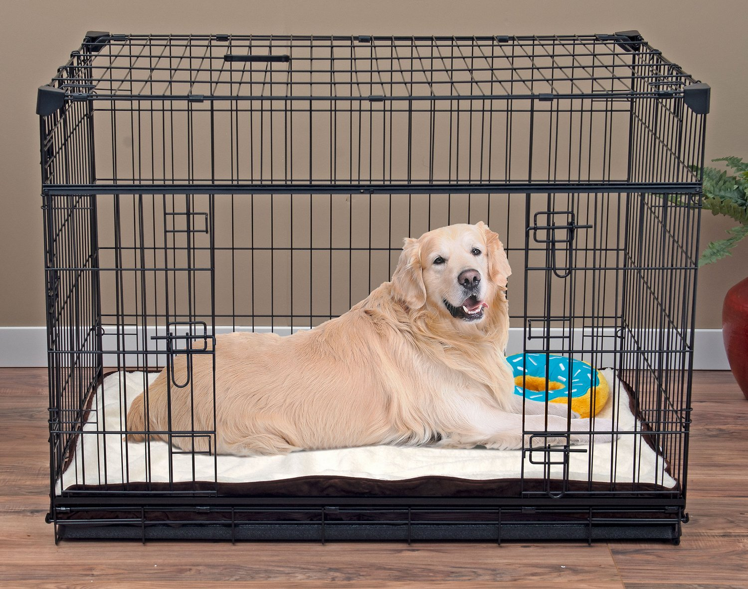 Lucky Dog Sliding Double Door Wire Dog Crate