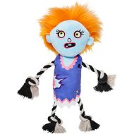Frisco Zombie Girl Plush with Rope Squeaky Dog Toy
