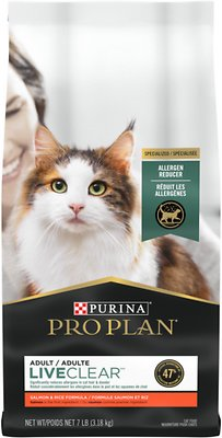 7. Purina Pro Plan LiveClear Probiotic Dry Cat Food