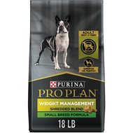 Purina Pro Plan Weight Management Chicken Adult Small Breed Formula Dry Dog Food, 18-lb bag
