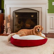 Happy Hounds Scooter Deluxe Round Pillow Dog Bed w/ Removable Cover