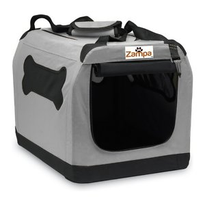 Zampa Double Door Collapsible Soft-Sided Dog Crate