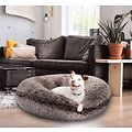 Bessie + Barnie Signature Bagel Bolster Cat & Dog Bed w/Removable Cover, Chepard/Lollipop, X-Large