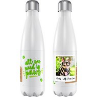 "Frisco Personalized ""All We Need is Paws"" Slim Water Bottle"
