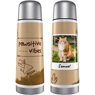 "Frisco Personalized ""Pawsitive Vibes"" Thermos, 25-oz"