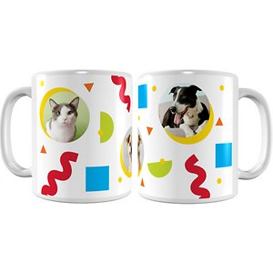 Frisco Personalized Colorful Shapes White Coffee Mug