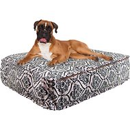 Bessie + Barnie Luxury Fun Print Pillow Cat & Dog Bed w/Removable Cover, Dog Park, X-Large