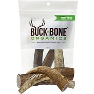 Buck Bone Organics Small Whole Elk Antler Dog Treats, 3 count