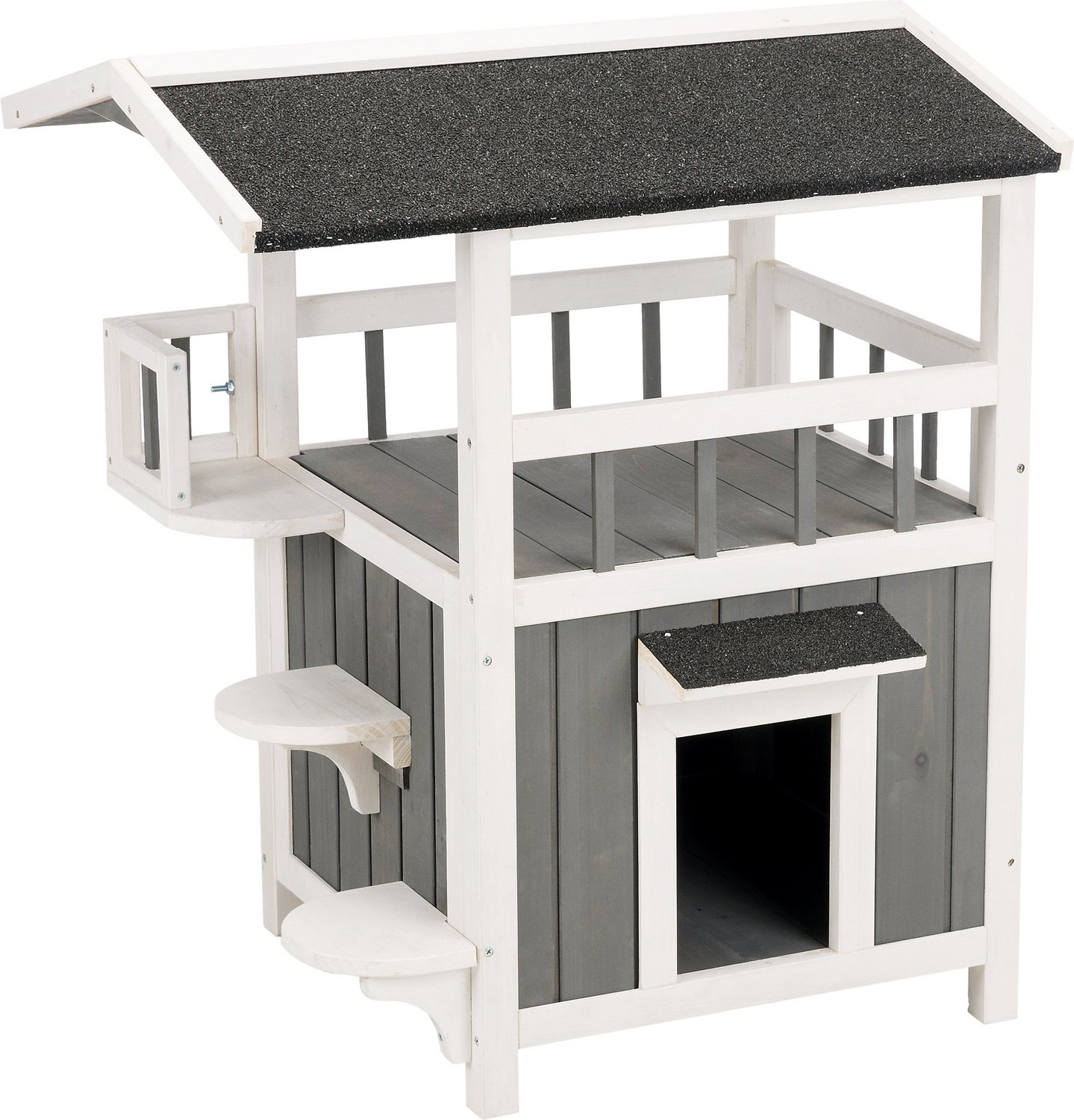 Trixie Natura Shaded Balcony Cat House Chewy Com
