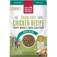 The Honest Kitchen Whole Food Clusters Chicken Recipe Puppy Blend Grain-Free Dehydrated Dog Food