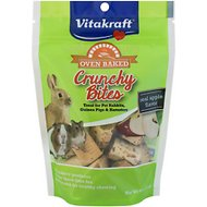 Vitakraft Crunchy Bites Apple Flavor Oven Baked Small Animal Treats, 4-oz bag