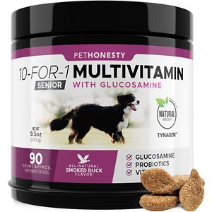 PetHonesty 10-for-1 Multivitamin with Glucosamine Smoked Duck Flavor
