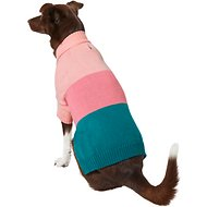 Frisco Colorblock Dog & Cat Turtleneck Sweater with Sleeves