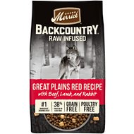 Merrick Backcountry Freeze-Dried Raw Great Plains Red Recipe with Beef, Lamb & Rabbit Grain-Free Dry Dog Food
