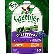 Greenies Scary Berry Blueberry Flavor Petite Dental Dog Treats, 6-oz bag