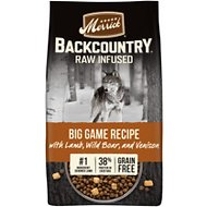 Merrick Backcountry Freeze-Dried Raw Grain-Free Big Game Recipe with Lamb, Wild Boar & Venison Dry Dog Food