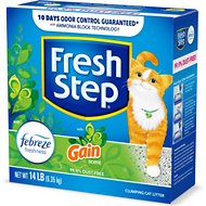 Fresh Step Febreze Freshness Gain Scented Clumping Clay Cat Litter, 14-lb box
