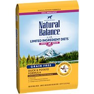 Natural Balance L.I.D. Limited Ingredient Diets Duck & Potato Formula Small Breed Bites Grain-Free Dry Dog Food