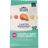 Natural Balance L.I.D. Limited Ingredient Diets Chicken & Sweet Potato Formula Small Breed Bites Grain-Free Dry Dog Food