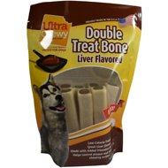 Ultra Chewy Double Treat Bone Liver Flavor Dog Treats