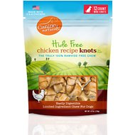 Canine Naturals Hide Free Chicken Recipe Mini Knot Dog Chew Treat, 12 count