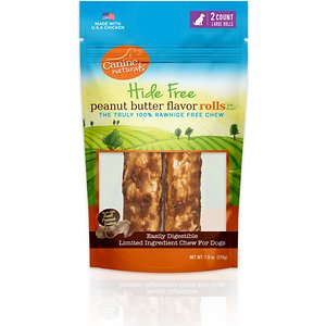 Canine Naturals Hide Free Peanut Butter Flavor Roll Dog Chew Treat, Large