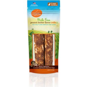 Canine Naturals Hide Free Peanut Butter Flavor Roll Dog Chew Treat, X-Large