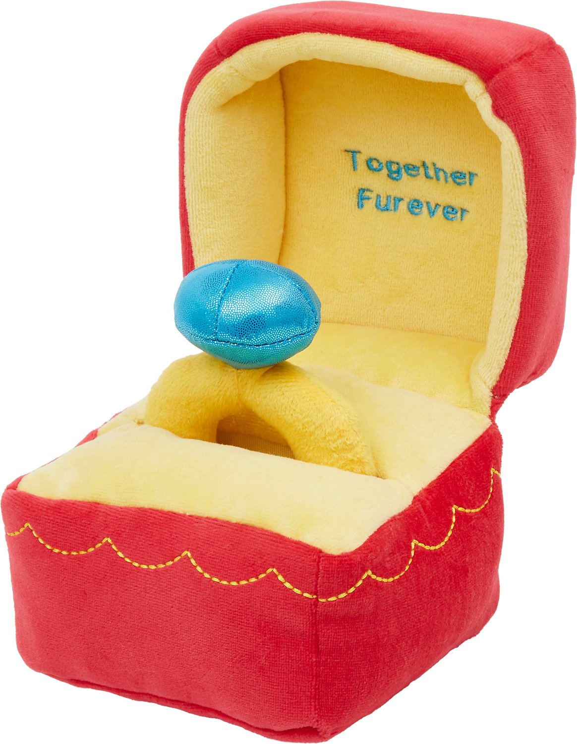 Frisco Valentine 2-in-1 Ring Plush Squeaky Dog Toy