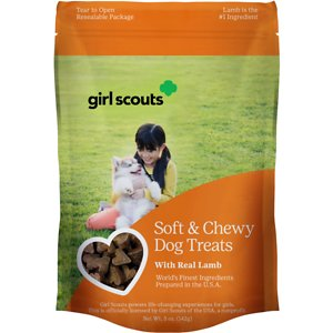 Girl Scout Pet Treats Real Lamb Dog Soft & Chewy Treats, 5-oz pouch